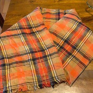 ZARA orange blanket scarf
